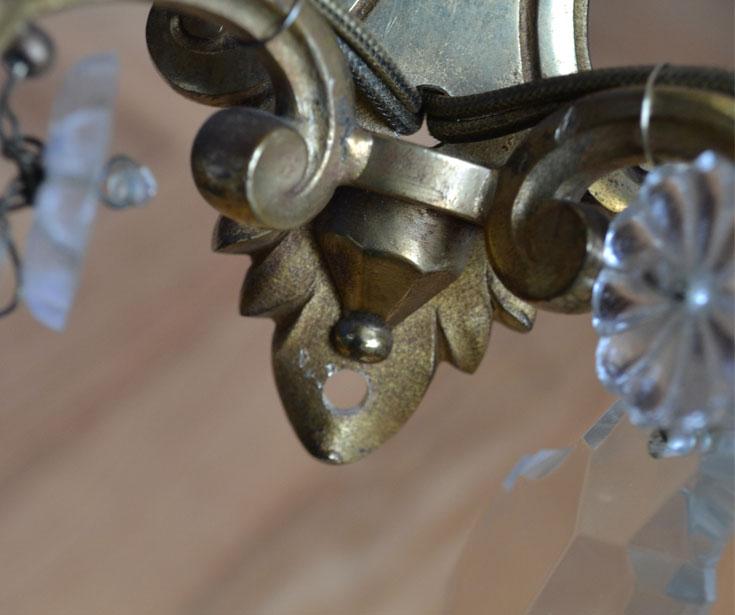 h-106-z ガラスアクセサリ付きのウォールブラケット