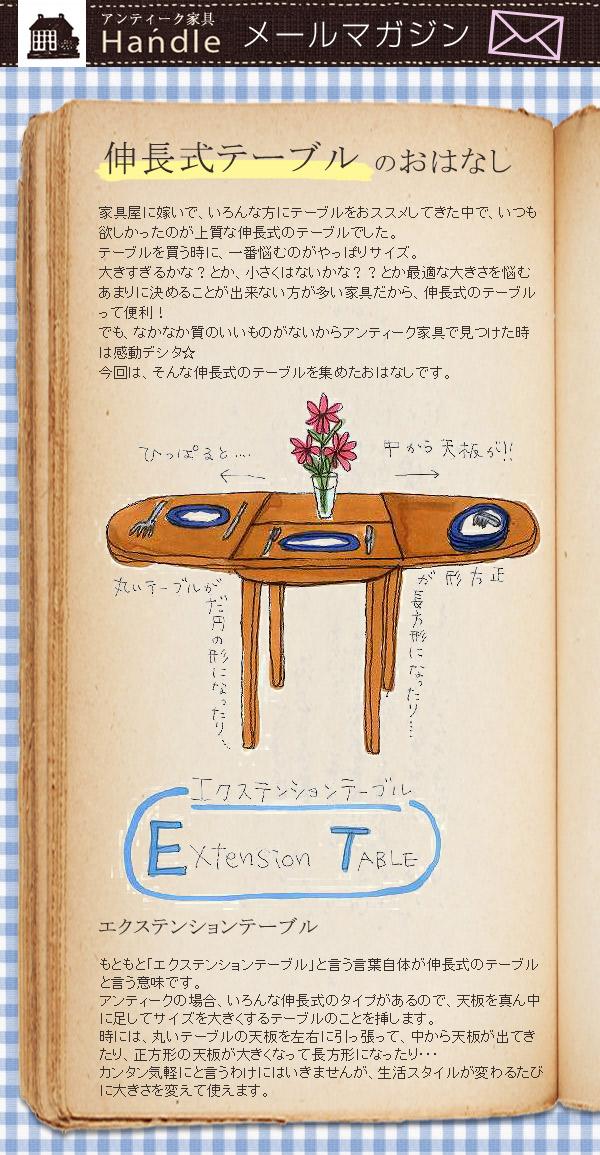 伸長式テーブルのおはなし