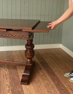 y-129-f アンティーク風ドローリーフテーブルの組み立て